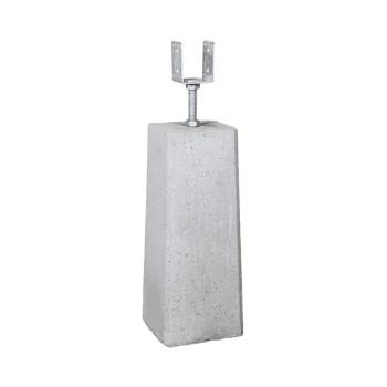 Plint inkl. justerbar stolpsko, 500 mm
