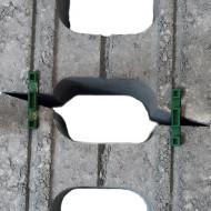 Rubin block, murlås/distans